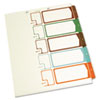S J Paper Table of Contents Index Dividers, 1-5, Multicolor, 11 x 8-1/2