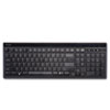 Kensington® Slim Type Standard Keyboard, 104 Keys, Black/Silver
