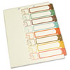 S J Paper Table of Contents Index Dividers, 1-8, Multicolor, 11 x 8-1/2