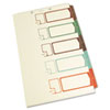S J Paper Table of Contents Index Dividers, 1-5, Multicolor, 14 x 8-1/2