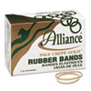 Alliance® Pale Crepe Gold Rubber Bands, Size 19, 3-1/2 x 1/16, 1lb Box