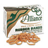 Alliance® Pale Crepe Gold Rubber Bands, Size 64, 3-1/2 x 1/4, 1lb Box