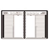 Recycled 24-Hour Daily Appointment Book, Black, 6 7/8