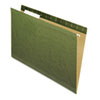 Pendaflex® Reinforced Hanging File Folders, 1/3 Tab, Kraft, Legal, Standard Green, 25/Box