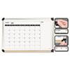 The Board Dudes Perpetual Calendar Dry Erase Board, 36 x 24, Aluminum