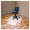 Advantus® RecyClear Chairmats for Hard Floors, 45 x 53, 25 x 12 Lip, Clear