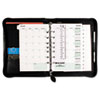Day-Timer® Bonded Leather Organizer Starter Set, 5-1/2 x 8-1/2, Black