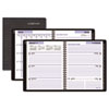 DayMinder® Recycled Executive Weekly/Monthly Planner, Black, 6 7/8