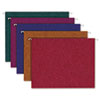 Pendaflex® Earthwise® Recycled Paper Color Hanging Folders, Letter, Assorted Jewel Colors, 20/Box