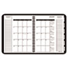 AT-A-GLANCE® Triple View Weekly/Monthly Appointment Book, Black, 6 7/8