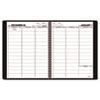 AT-A-GLANCE® Recycled Weekly Appointment Book, Black, 8 1/4