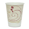 SOLO® Cup Company Hot Cups, Symphony Design, 8oz, Beige, 50/Pack