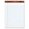 TOPS® The Legal Pad Legal Rule Perforated Pads, Letter Size, White, 50 Sht Pads, 12/Pk