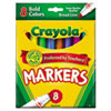 Crayola® Non-Washable Markers, Broad Point, Bold Colors, 8/Set