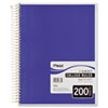 Mead® 5 Subject Notebook, College Rule, 8-1/2 x 11, White, 200 Sheets/Pad