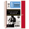 Five Star® Wirebound Notebook, College Rule, 5 x 7, Perforated, Poly Cover, 100 sheets