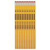 Write Dudes USA Silver Series #2 Pencils, Basswood, Yellow, Unsharpened, Dozen