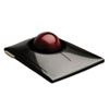 Kensington® SlimBlade Trackball, Graphite w/Ruby Red Trackball