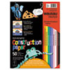 Wausau Paper Astrobrights Construction Paper, 72-lb., 9 x 12, Assorted, 50 Sheets/Pack