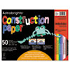 Wausau Paper Astrobrights Construction Paper, 72-lb., 12 x 18, Assorted, 50 Sheets/Pack