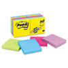 Post-it® Notes Ultra Color Notes, 3 x 3, Five Colors, 14 100-Sheet Pads/Pack