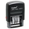 Trodat® Trodat Economy Stamp, Dater, Self-Inking, 1 5/8 x 3/8, Black