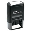 Trodat® Trodat Economy 5-in-1 Stamp, Dater, Self-Inking, 1 5/8 x 1, Blue/Red