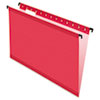 Pendaflex® SureHook™ Poly Laminate Hanging Folders, Legal, 1/5 Tab, Red, 20/Box