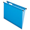 Pendaflex® SureHook™ Hanging File Folders, Letter, 1/5 Cut, Blue, 20/BX