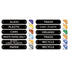Rubbermaid® Commercial Recycle Label Kit, 44 Labels in Three Languages, 8 x 1-1/2