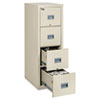 Patriot Insulated Four-Drawer Fire File, 17.75w x 25d x 52.75h, Parchment