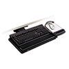 3M Positive Locking Keyboard Tray, Highly Adjustable Platform, 17-3/4