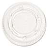 Pactiv Crystal-Clear Portion Cup Lids, Fits 1.5-2.5oz Cups, 2400/Carton
