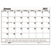 House of Doolittle™ Two-Color Dated Monthly Desk Pad Calendar Refill, 22w x 17h, 2013