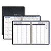 House of Doolittle™ Wirebound Weekly/Monthly Planner, 8-1/2 x 11, Black Leatherette, 2016