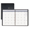 House of Doolittle™ Ruled Monthly Planner, 14-Month December-January, 8-1/2 x 11, Black, 2012-2014