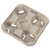 Chinet® StrongHolder Molded Fiber Cup Trays, 8-32oz, Four Cups, 300/Carton