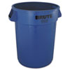 Rubbermaid® Commercial Brute Refuse Container, Round, Plastic, 32 gal, Blue