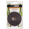 Baumgartens Adhesive-Backed Magnetic Tape, Black, 1/2