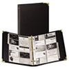 Samsill® Vinyl Business Card Binder Holds 200 2 x 3 1/2 Cards, Ebony
