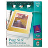 Avery® Top-Load Poly 3-Hole Punched Sheet Protectors, Letter, Diamond Clear, 50/Box