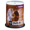 imation® DVD-R Discs, 4.7GB, 16x, Spindle, Silver, 100/Pack