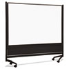 Best-Rite® D.O.C. Mobile Double-Sided Marker Board Divider, 72 x 72, Black