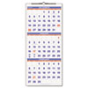 Recycled Three-Month Reference Wall Calendar, 12