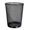Universal One™ Mesh Wastebasket, 18qt, Black