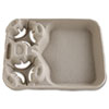 Chinet® StrongHolder Molded Fiber Cup/Food Trays, 8-44oz, 2-Cup Capacity, 100/Carton