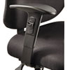 Safco® Height/Width-Adjustable T-Pad Arms for Alday 24/7 Task Chair, 3.5w x 10.5d x 14h, Black, 1 Pair