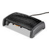 Fellowes® Heat and Slide Footrest, Plastic, 12-3/8w x 19-1/4d x 4-5/16h, Black