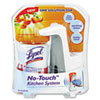 LYSOL® Brand No-Touch Kitchen System, 8.5oz, Plastic, Tangerine