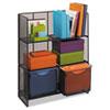 Safco® Onyx Mesh Fold-Up Shelving, 27.5w x 11d x 34.25h, Black